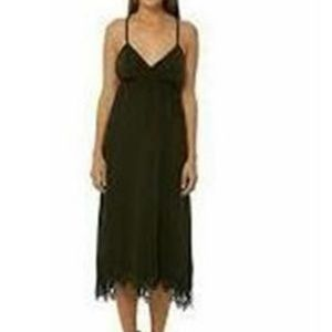 Gypsy 05 Varanasi Laser Cut Hem Black Midi Dress